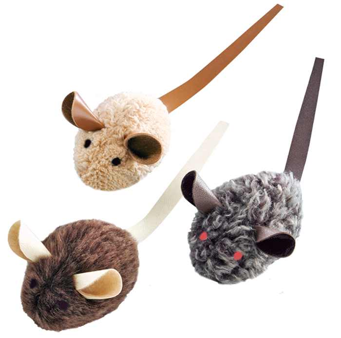 Набор игрушек для животных Nobby Мышка, с запахом кошачьей мяты, 3 шт набор игрушек для животных hagen catit
