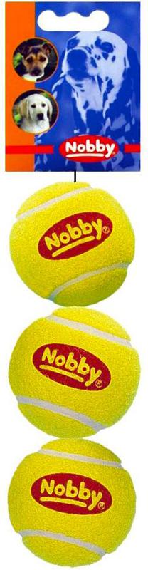 Набор игрушек для животных Nobby Мяч теннисный, диаметр 6 см, 3 шт набор игрушек для животных hagen catit