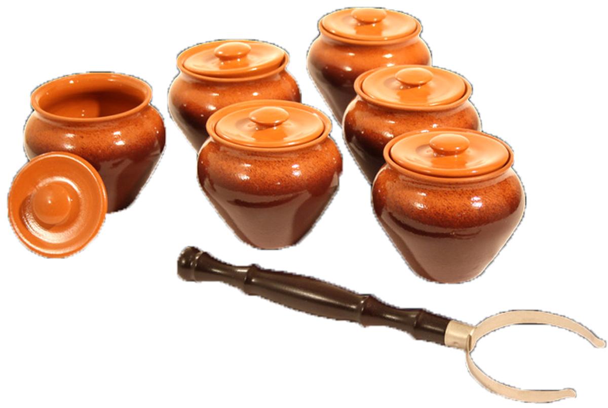 Набор столовой посуды Вятская Керамика, 13 предметов. НБР ВK-1/6Т набор керамических горшков 4 предмета вятская керамика нбр вк 1 4свч