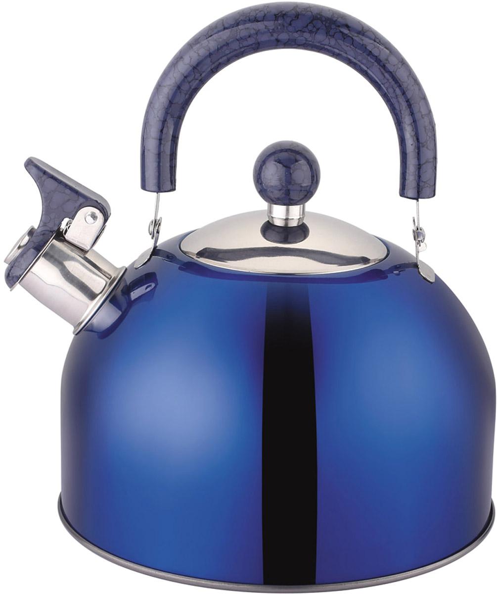 """Чайник """"Appetite"""", со свистком, цвет: синий, 2,5 л. LKD-2025B"""