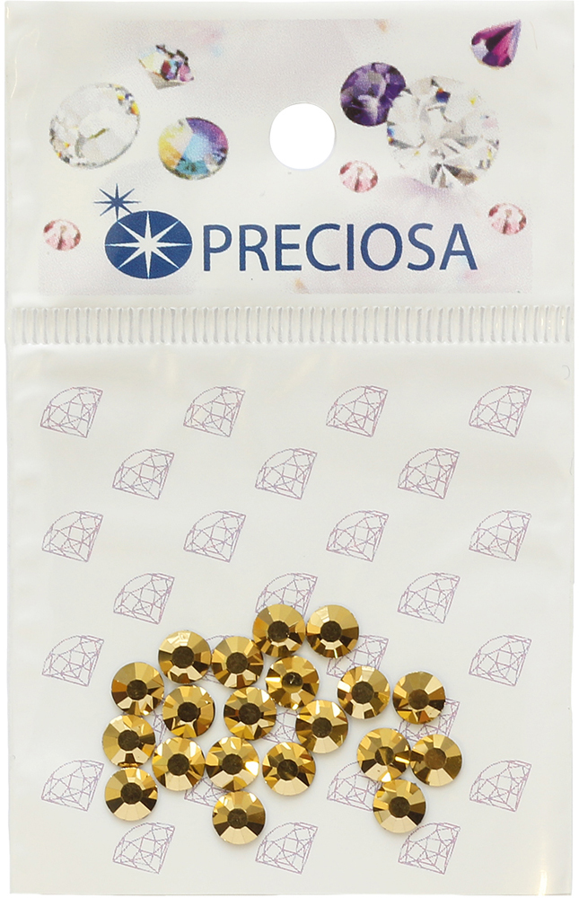 Стразы термоклеевые Preciosa Crystal Aurum SS20, цвет: золотой, 20 шт551773Стразы Preciosa на сегодняшний день – один из лучших мировых производителей изделий из хрусталя. Продукция этой компании широко известна и любима во всем мире. А благодаря своей особой технологии производства, отличной от технологии Swarovski, получаются шикарные и роскошные изделия, внешне аналогичные изделиям из настоящих драгоценных камней.