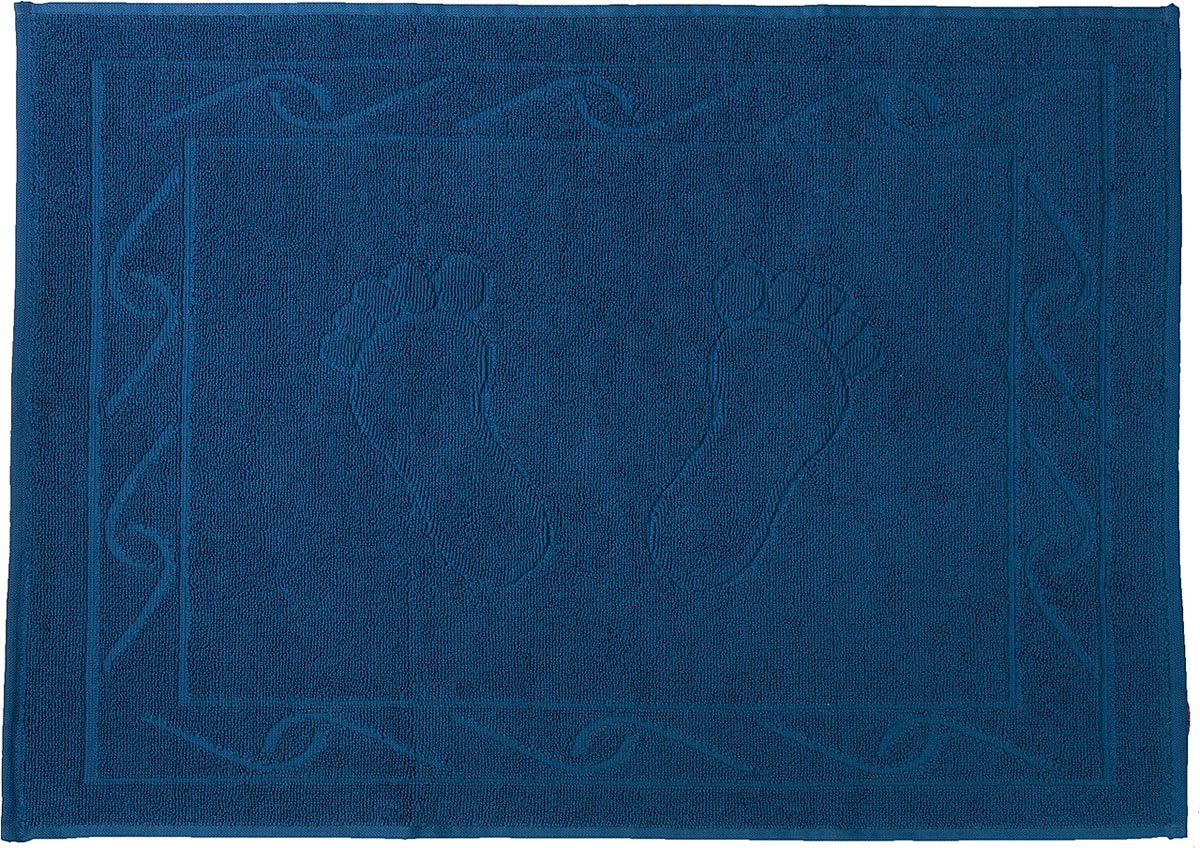"Полотенце махровое для ног Hobby Home Collection ""Hayal"", цвет: темно-голубой, 50 х 70 см"