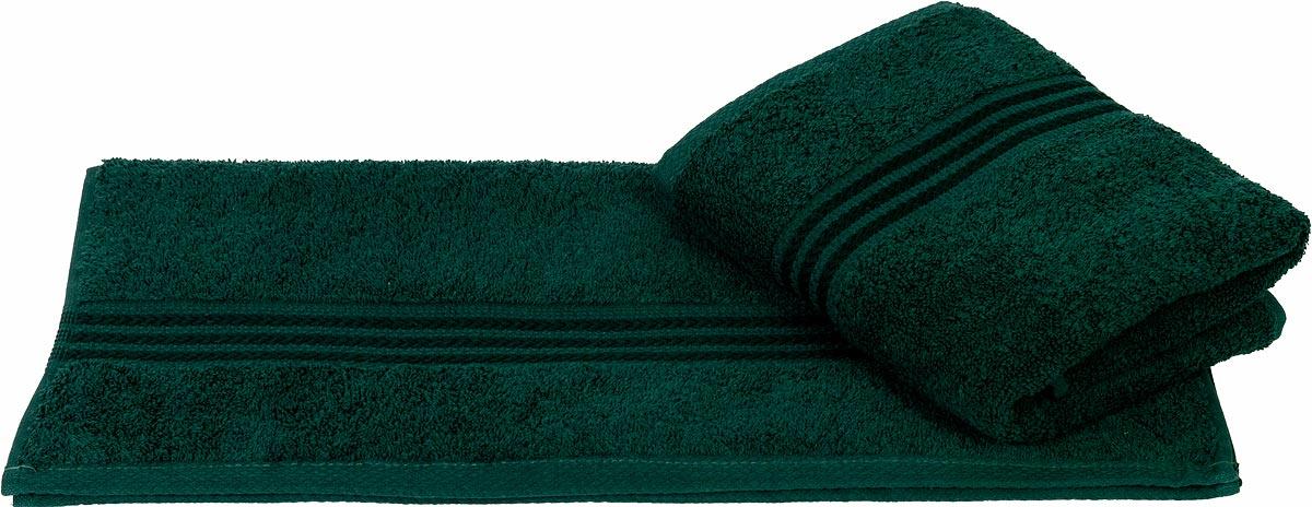 """Полотенце махровое Hobby Home Collection """"Rainbow"""", цвет: темно-зеленый, 70 х 140 см"""