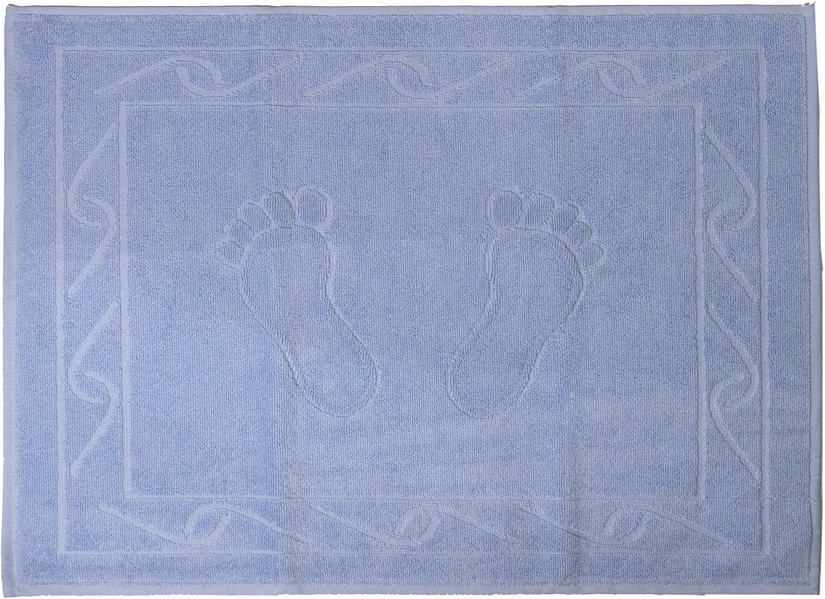 "Полотенце махровое для ног Hobby Home Collection ""Hayal"", цвет: светло-голубой, 50 х 70 см"