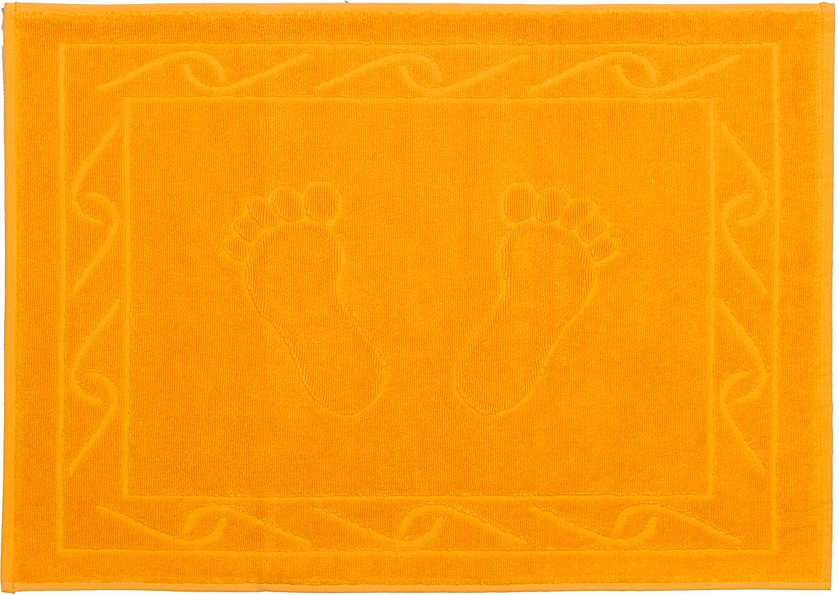 "Полотенце махровое для ног Hobby Home Collection ""Hayal"", цвет: темно-желтый, 50 х 70 см"
