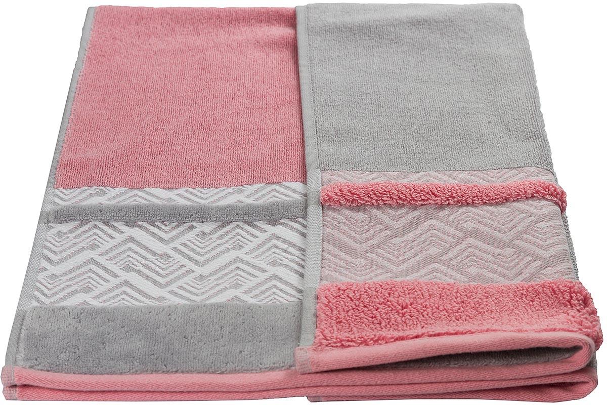 """Полотенце махровое Hobby Home Collection """"Nazende"""", цвет: розовый, 70 х 140 см"""
