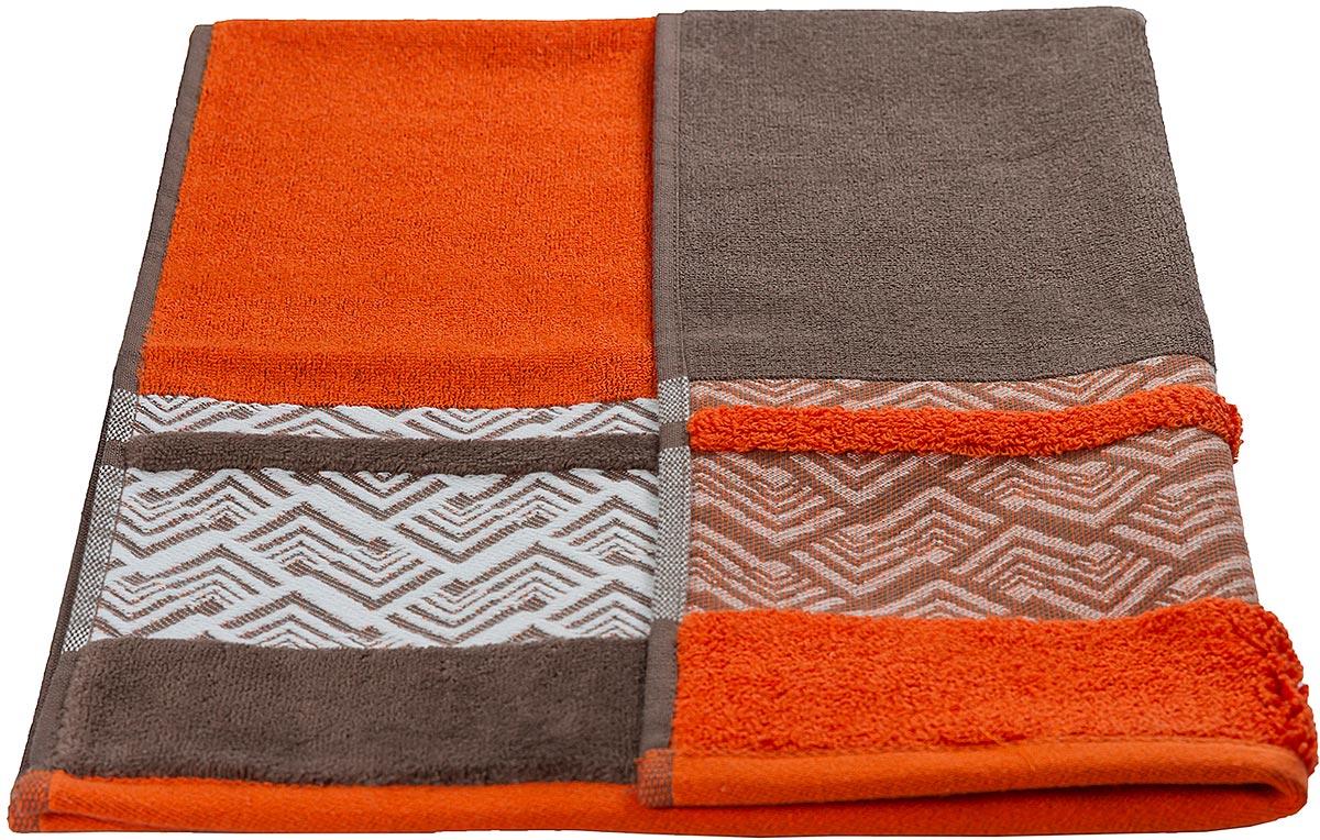 """Полотенце махровое Hobby Home Collection """"Nazende"""", цвет: оранжевый, 70 х 140 см"""
