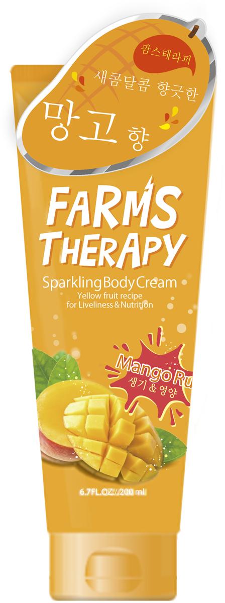 Farms Therapy Крем для тела на основе минеральной воды Манго, 200 мл golden monaco экстра сухой тоник на основе природной минеральной воды с хинином 230 мл