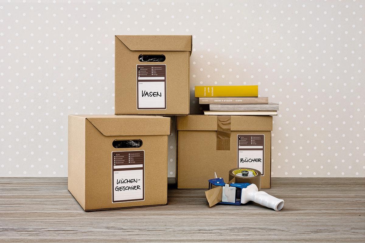 Avery ZweckformЭтикетки самоклеящиеся для коробок и переезда Living 97 х 148 мм 6 шт Avery Zweckform