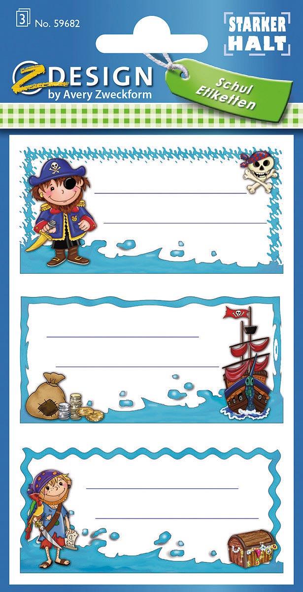Avery Zweckform Стикеры для подписи тетрадей Z-Design Пираты 76 х 120 мм 9 шт