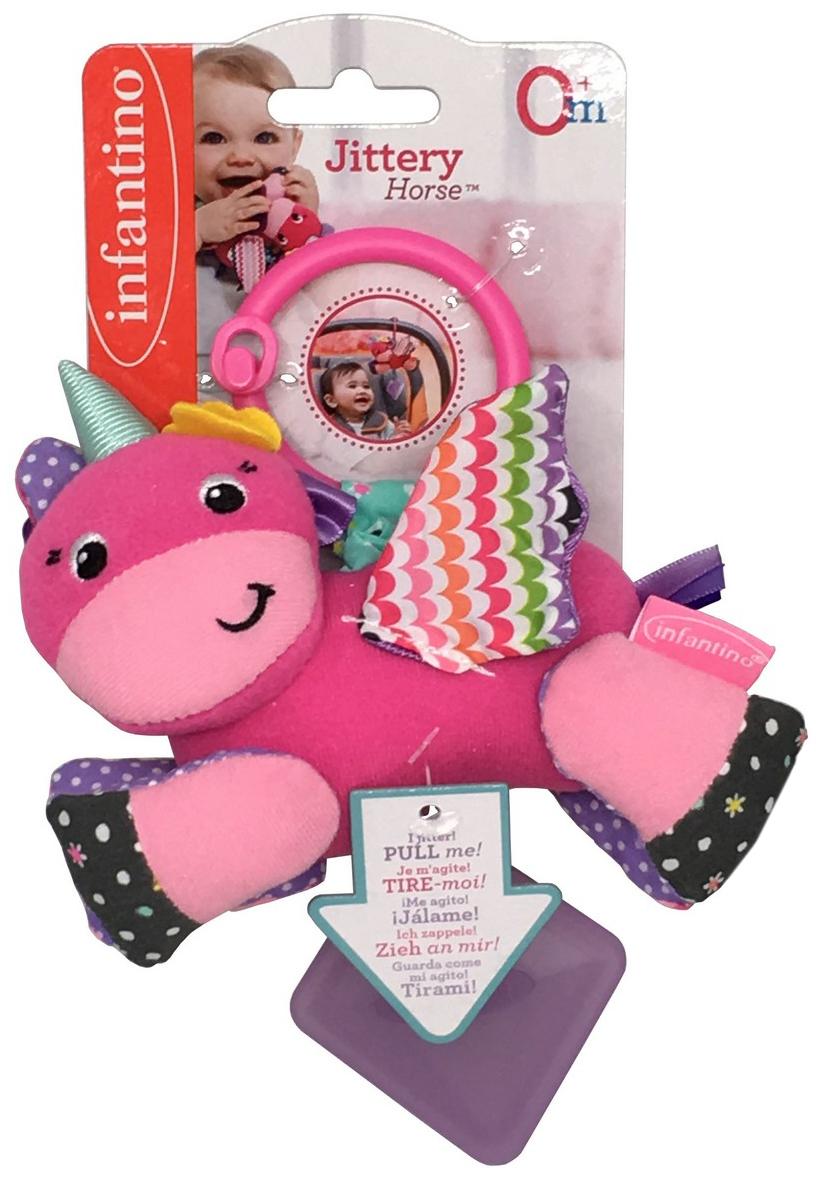 Infantino Игрушка-подвеска Единорог мягкая игрушка infantino милый львенок