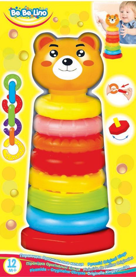 BebeLino Пирамидка Оригинальные кольца какие игрушки интересны для малыша 8 месяцев фото