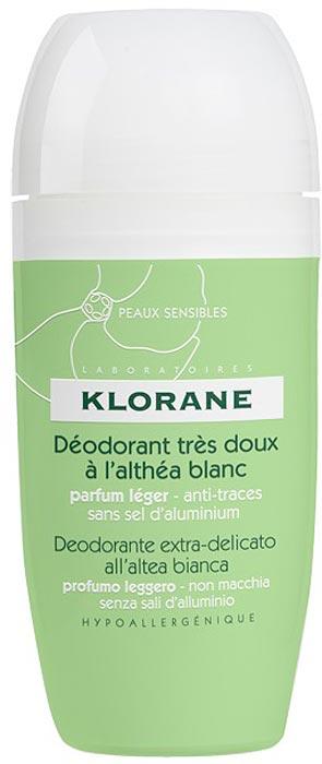 Klorane Дезодорант шариковый сверхмягкий с белым алтеем, 40 мл где купить шампунь klorane