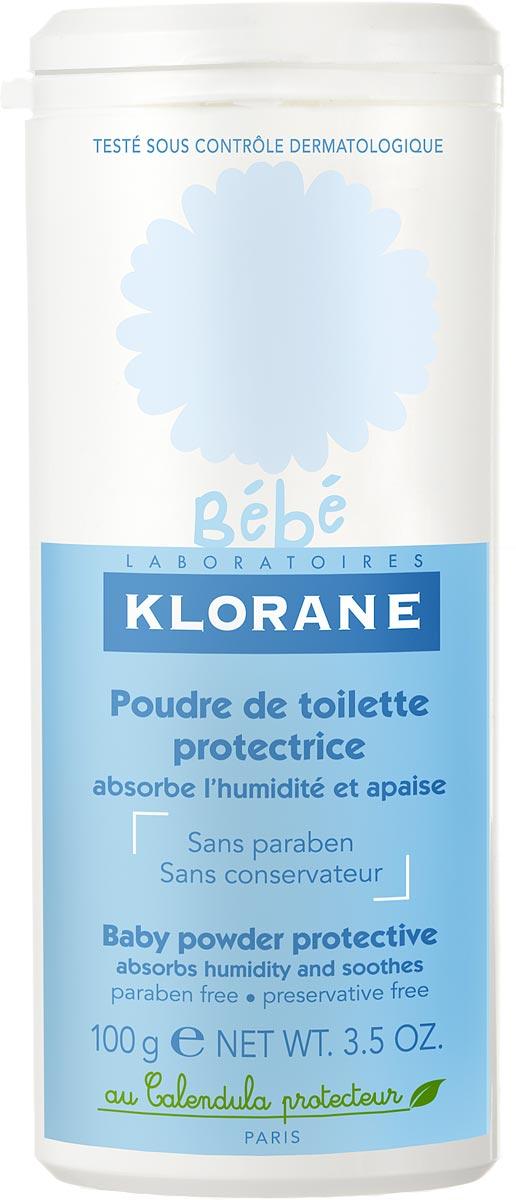 Klorane Bebe Защитная туалетная присыпка 100 г где купить шампунь klorane