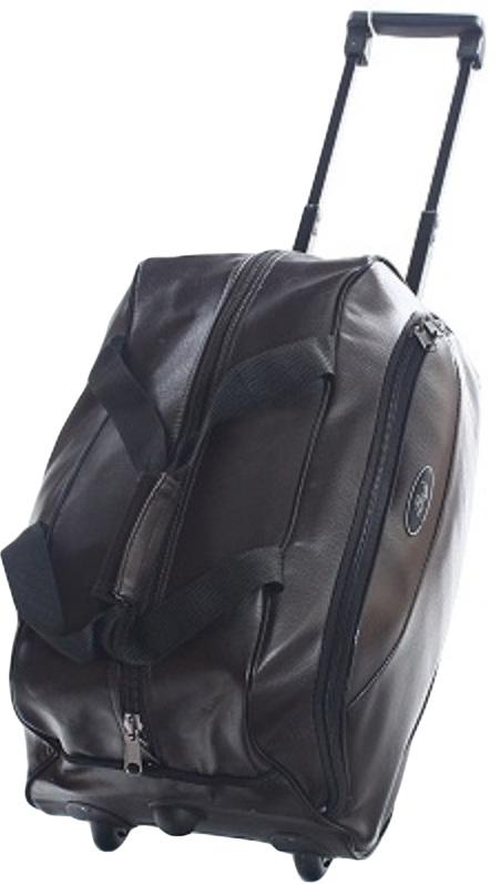 Сумка дорожная Ibag, на колесах, цвет: коричневый, 41 л сумка тележка хозяйств на колесах с выдвижной ручкой раз сумки33х23х55 см клетка ассорти 4 цв