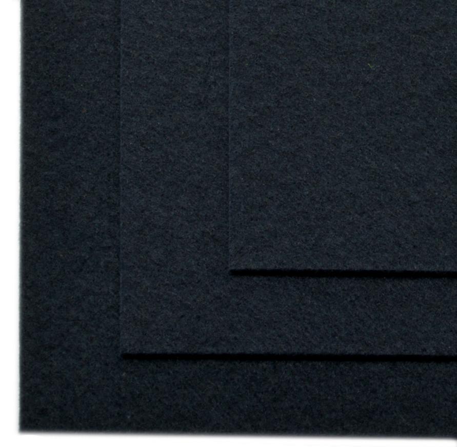 """Фетр листовой """"Ideal"""", жесткий, цвет: черный (651), 20 х 30 см, 10 шт"""