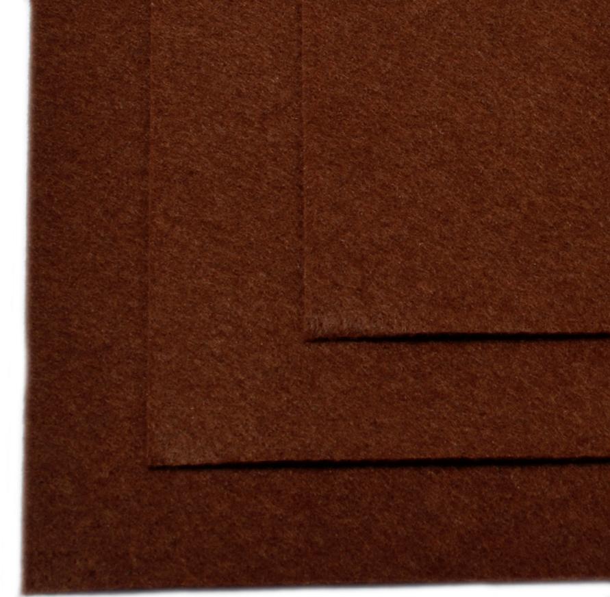 """Фетр листовой """"Ideal"""", жесткий, цвет: коричневый (687), 20 х 30 см, 10 шт"""