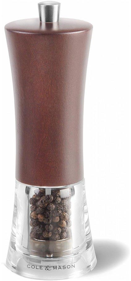 Мельница для перца Cole & Mason Genoa Forest, цвет: коричневый, 5 х 5 х 16,5 см солонка и мельница для перца nouvelle de france розовая гортензия 5 х 5 х 14 5 см 2 предмета