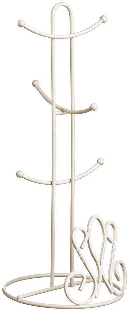 Подставка для кружек Walmer Provence, цвет: светло-бежевый, 16 х 16 х 37,5 см подставка для бумажного полотенца walmer provence цвет светло бежевый 13 5 х 13 5 х 32 см