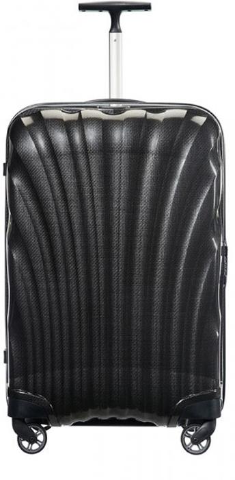 Чемодан Samsonite Cosmolite FL 2, цвет: черный, 123 л. V22-09307V22-09307Стильный чемодан Samsonite Cosmolite FL 2, изготовленный из качественного пластика, подойдет для путешествий, командировок и переездов. Удобная модель объемом 123 л позволяет разместить достаточное количество вещей. Чемодан закрывается на застежку молнию с двумя бегунками и оснащен замком безопасности TSA, который исключает возможность взлома при досмотре во время путешествий. Отверстие в кодовом замке предназначено для работников таможни (открытие багажа для досмотра без присутствия хозяина). Ключ находится только у таможни. Высококачественная фурнитура гарантирует прочность всех деталей, надежность молний и плавность выдвижной ручки с регулируемой высотой, а колеса обеспечивают плавность хода вашему чемодану. Текстильный разделитель в основном отделении дает возможность разместить одежду по степени востребованности. С помощью перекрестных ремней вся одежда с легкостью упаковывается. Исключается ее перемещение во время транспортировки. Благодаря прочному корпусу, позволяют распределить нагрузку равномерно, что облегчает передвижение сумки. Крупногабаритный товар.