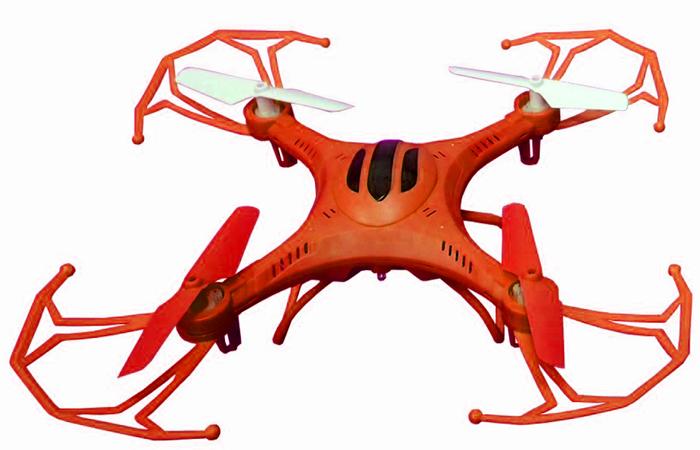 Властелин небес Квадрокоптер на радиоуправлении Послушный цвет оранжевый радиоуправляемый верталет властелин небес проворный
