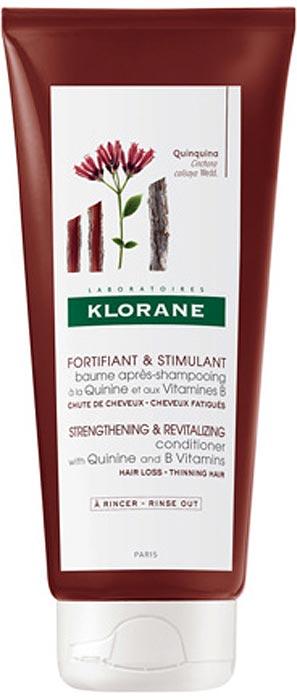 Klorane Бальзам-ополаскиватель c экстрактом хинина и витаминами В, 200 мл
