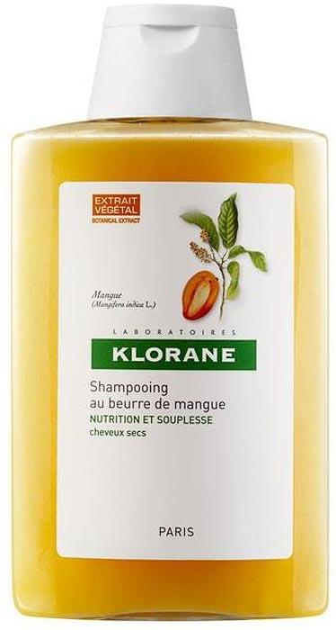 Klorane Шампунь с маслом манго для сухих, поврежденных волос, 100 мл шампунь klorane с маслом манго для сухих и поврежденных волос 200 мл