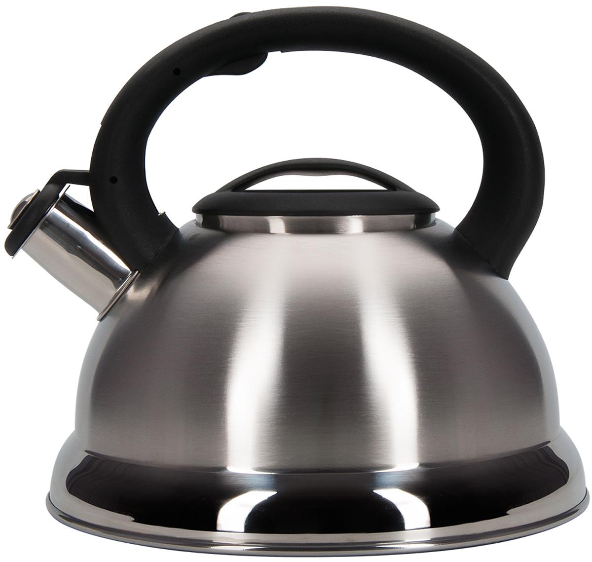 Фото - Чайник Regent Inox Tea, со свистком, цвет: серебристый, черный, 2,5 л. 93-TEA-27 чайник 3 л со свистком regent tea 93 tea 31