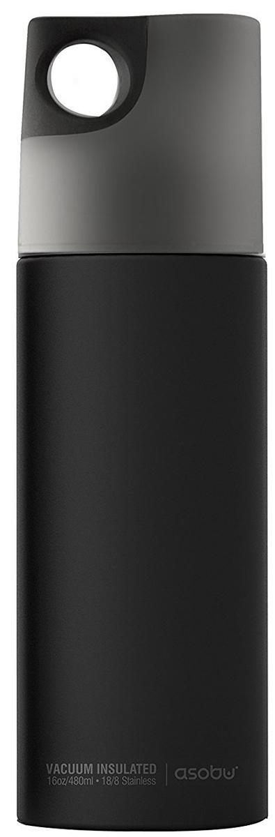 Термобутылка Asobu Le Canal, цвет: черный, серый, 0,48 л термобутылка 0 45 л asobu times square travel bottle белая sbv15 white
