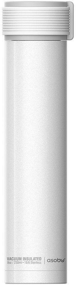 Термобутылка Asobu Skinny Mini, цвет: белый, 0,23 л термобутылка 0 23 л asobu skinny mini белая sbv20 white