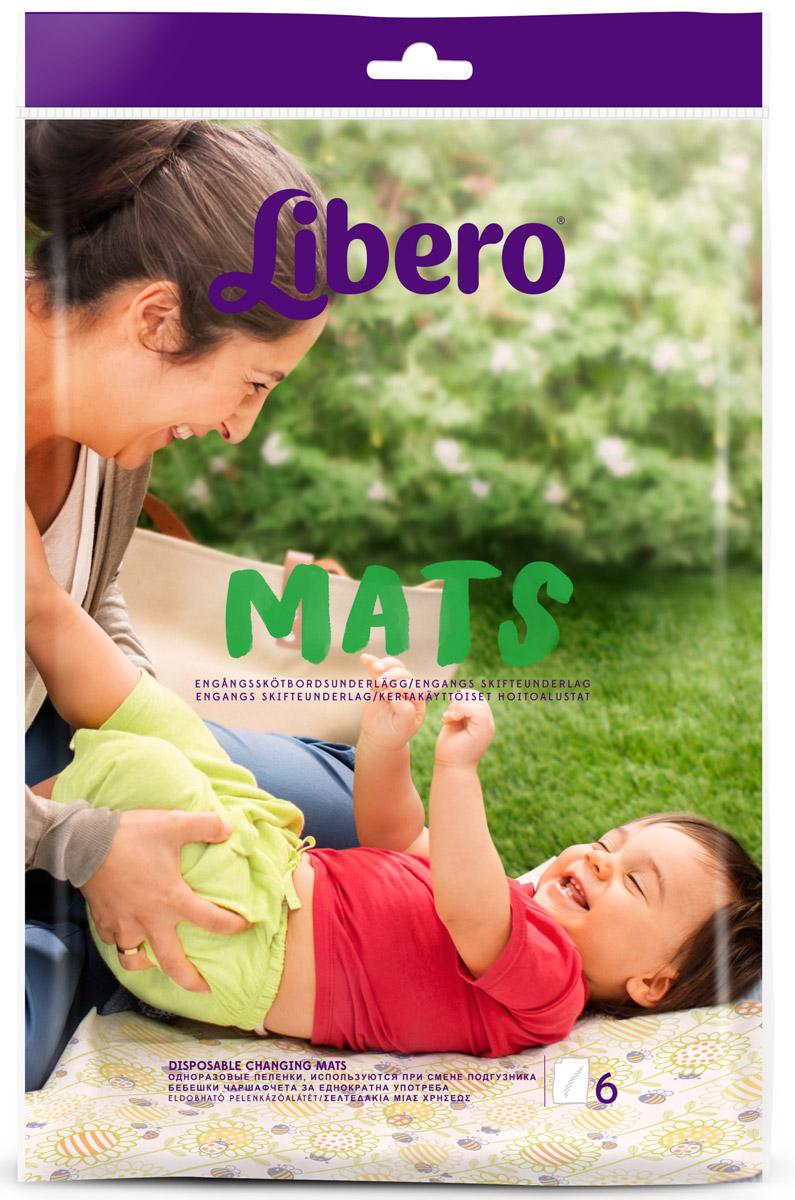 Libero Пеленки Mats 10х6 шт libero пеленки одноразовые mats 50 х 70 см 6 шт