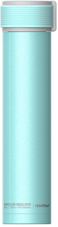 Термобутылка Asobu Skinny Mini, цвет: бирюзовый, 0,23 л термобутылка 0 23 л asobu skinny mini белая sbv20 white