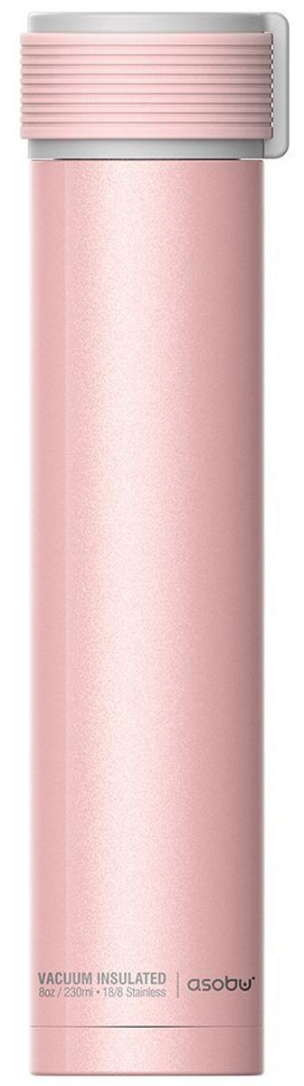 Термобутылка Asobu Skinny Mini, цвет: розовый, 0,23 л термобутылка 0 23 л asobu skinny mini белая sbv20 white