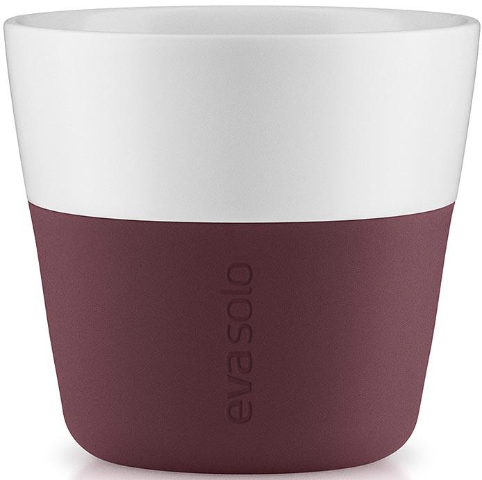 Фото - Чашка кофейная Eva Solo, цвет: бордовый, 230 мл, 2 шт [супермаркет] jingdong геб scybe фил приблизительно круглая чашка установлена в вертикальном положении стеклянной чашки 290мла 6 z
