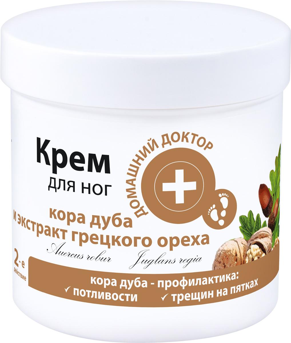 Домашний Доктор Крем для ног Кора дуба и экстракт грецких орехов, профилактика трещин на пятках, 250 мл крем кора нью лайн