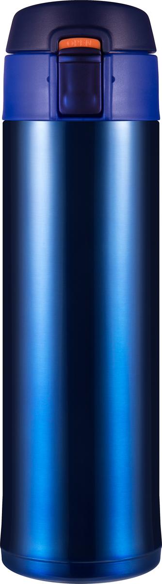 Термос Woodsurf Quick Open 2.0, цвет: синий металлик, 480 мл термостакан woodsurf on the way цвет белый 500 мл