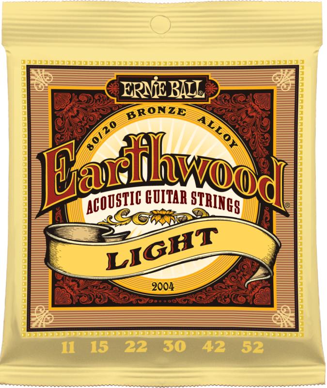 Ernie Ball 2004 струны для акустической гитары Earthwood 80/20 Bronze Light (11-15-22w-30-42-52) струны для акустической гитары d addario ez910