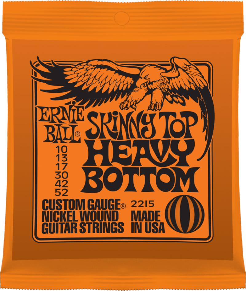 Ernie Ball Skinny Top Heavy Bottom Slinky Nickel Wound струны для электрической гитары (10-52)