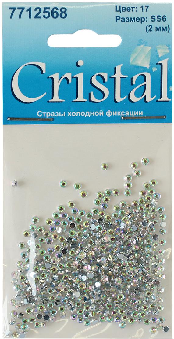 Стразы холодной фиксации Cristyle, цвет: прозрачный, диаметр 2 мм, 432 шт стразы холодной фиксации cristyle цвет серый металлик 3 8 мм 144 шт