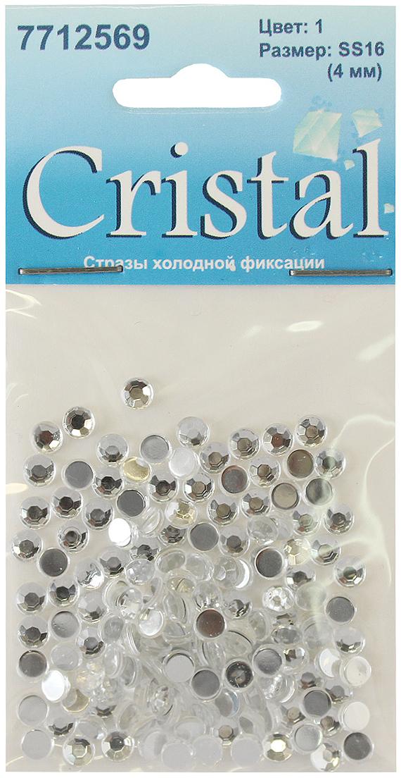 Стразы холодной фиксации Cristyle, цвет: прозрачный, диаметр 4 мм, 144 шт. 7712569_1 стразы холодной фиксации cristyle цвет серый металлик 3 8 мм 144 шт