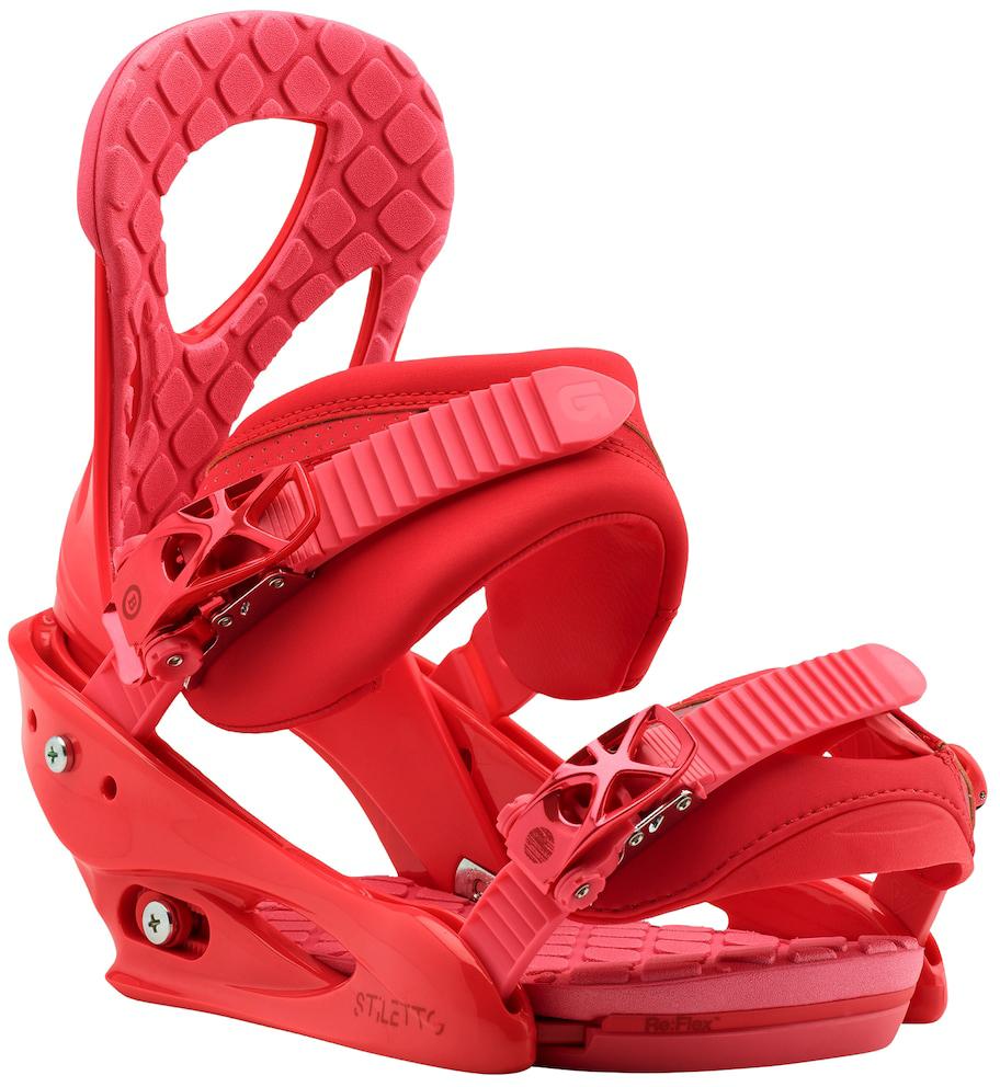 """Крепления для сноуборда Burton """"Stiletto"""", цвет: красный. Размер S"""
