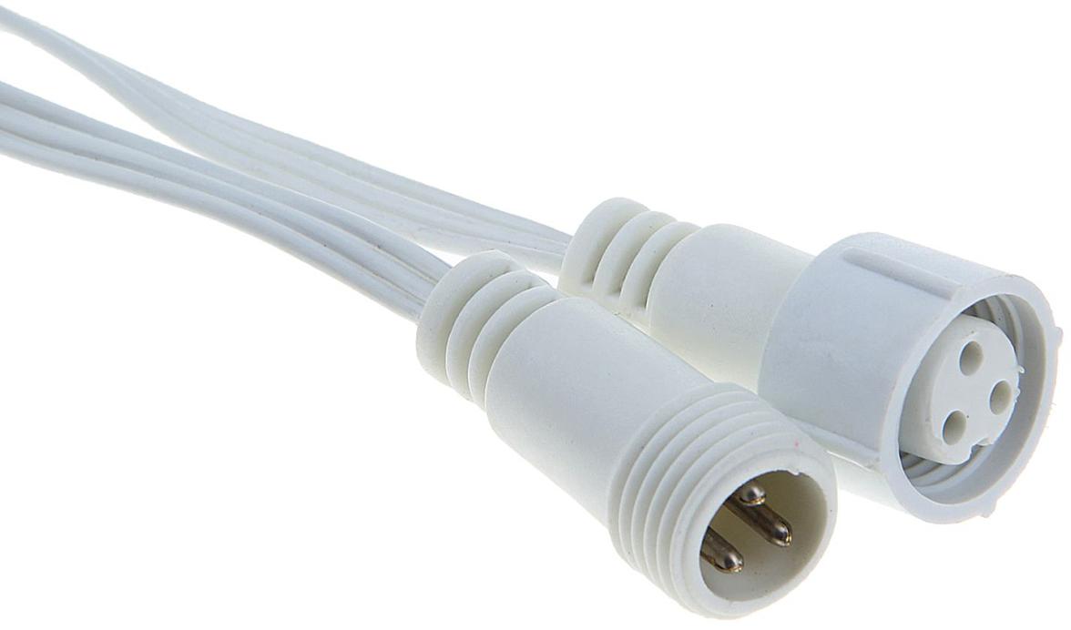 Фото - Удлинитель для гирлянд УМС Luazon Lighting, 3W, нить белая, 10 метров разветвитель для гирлянд умс luazon lighting 2w нить белая 1 вход 9 выходов