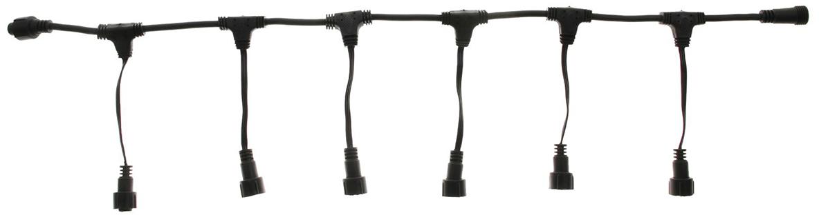 цена на Разветвитель для гирлянд УМС Luazon Lighting, 3W, нить темная, 1 вход, 6 выходов
