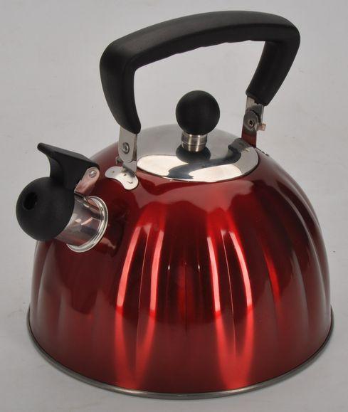 Фото - Чайник Regent Inox Linea Promo, со свистком, цвет: красный, 2,5 л trixie стойка с мисками trixie для собак 2х1 8 л