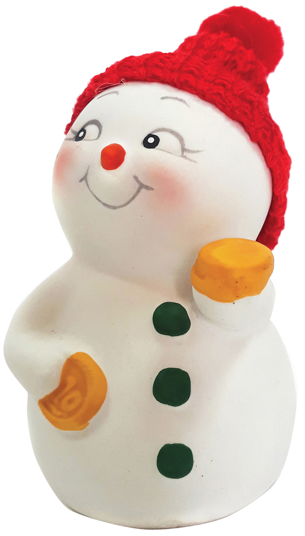Фигурка новогодняя Снеговик с монетами, 8 см фигурка новогодняя magic time снеговик и список подарков высота 8 см