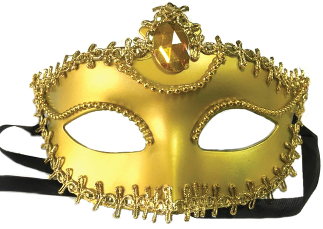 Маска карнавальная Золотая, 11,7 х 17 7,5 см