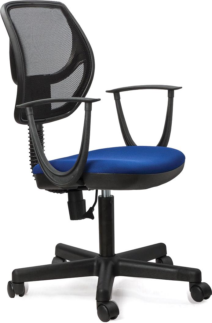 Кресло оператора Brabix Flip MG-305, цвет: черный, синий. 531415 цена