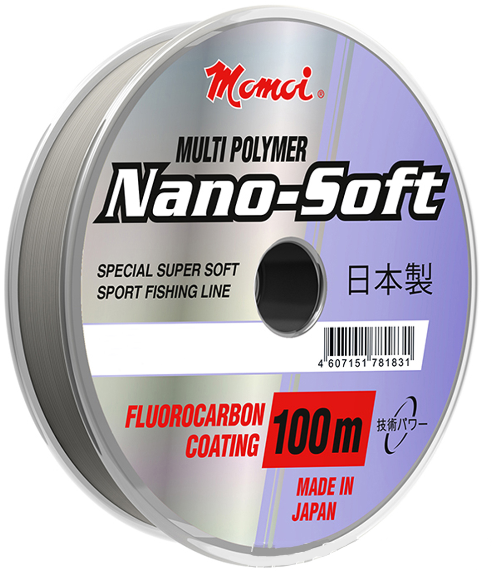 Леска Momoi Fishing Hameleon Nano-Soft, 100 м, 0,20 мм, 4,7 кг