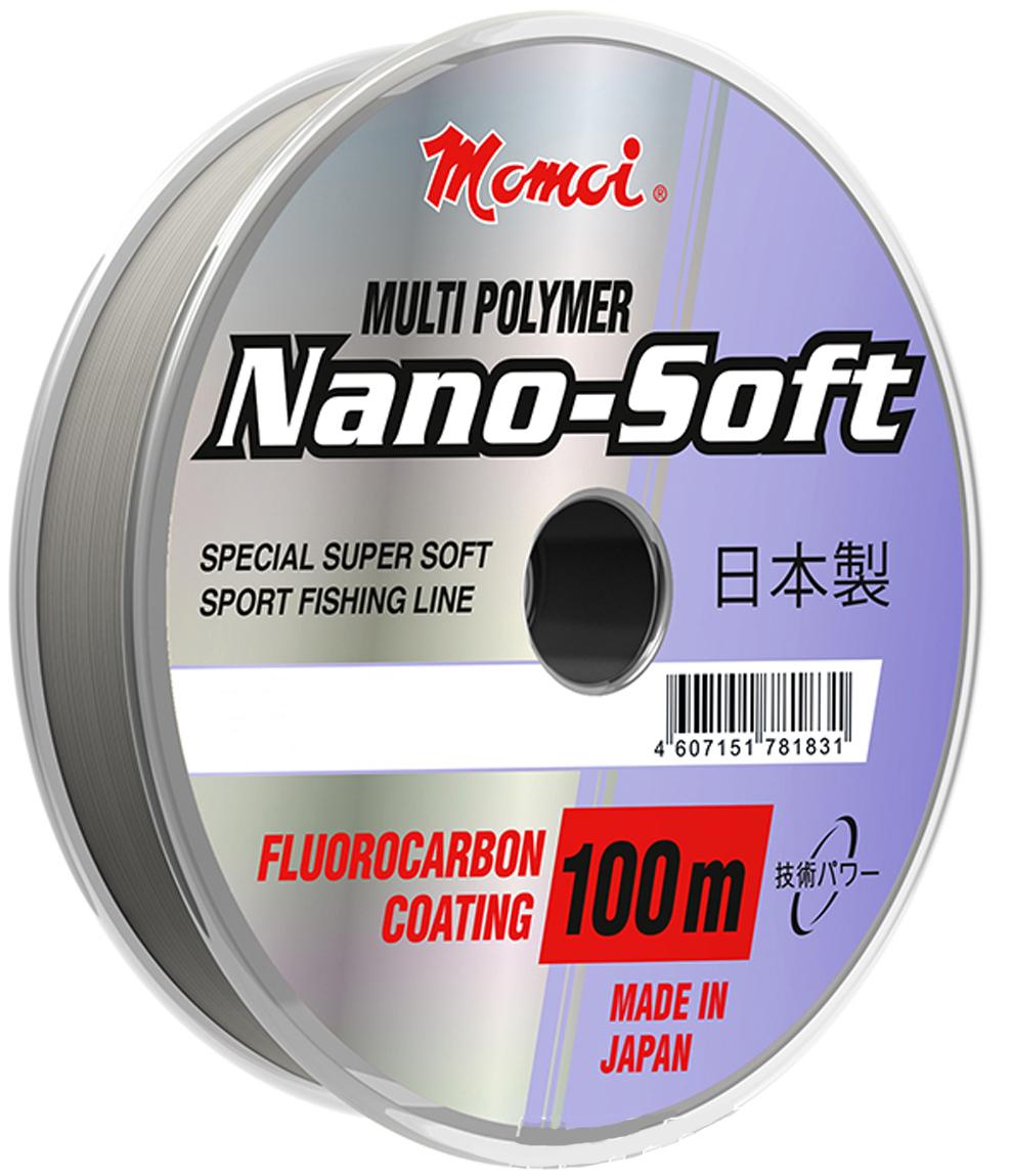 Леска Momoi Fishing Hameleon Nano-Soft, 100 м, 0,26 мм, 7,5 кг