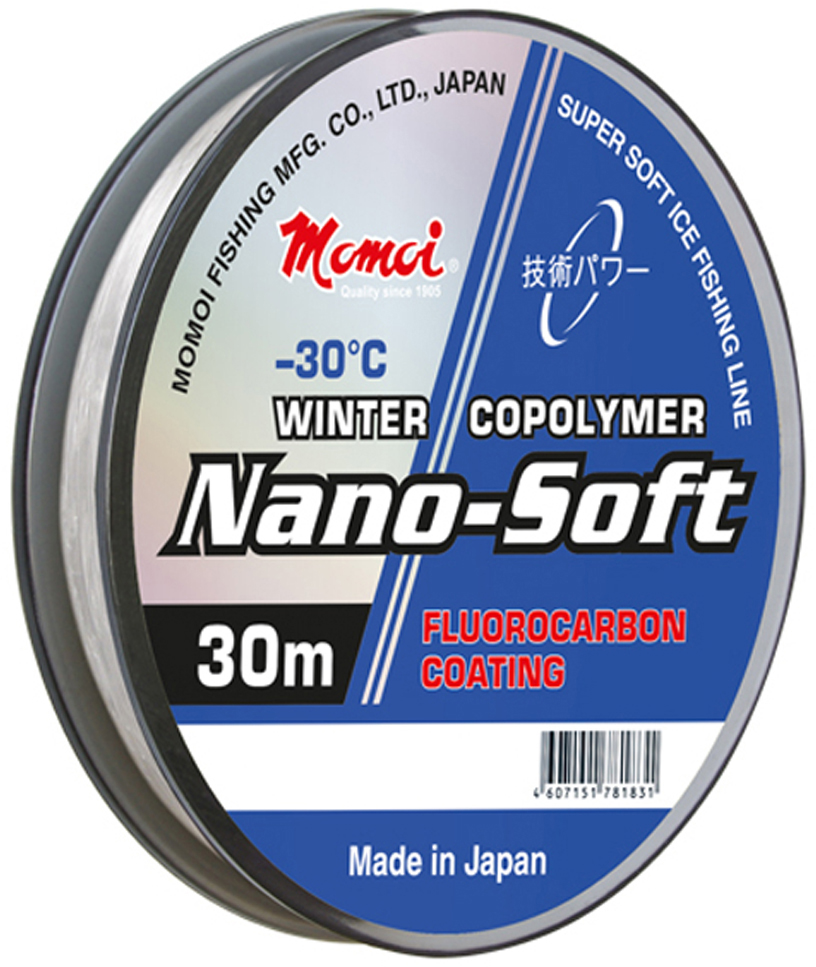 Леска зимняя Momoi Fishing Nano-Soft Winter, 30 м, 0,117 мм, 1,3 кг